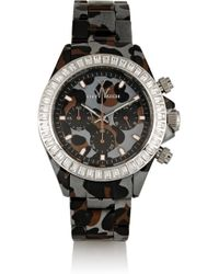 Toy Watch - Gray Chronograph Leopard-Print Plasteramic Watch - Lyst