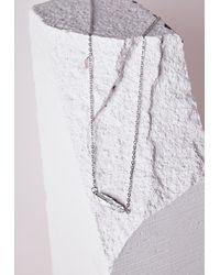 Missguided | Metallic Leaf Charm Body Chain Silver | Lyst
