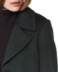 Jaeger | Black Wool Three-button Coat | Lyst