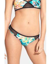 Volcom - Black 'tropical Riot' Print Bikini Bottoms - Lyst