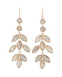 Irene Neuwirth - Metallic Gemstone Chandelier Earrings - Lyst