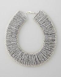 Panacea - Metallic Beaded Collar Necklace - Lyst