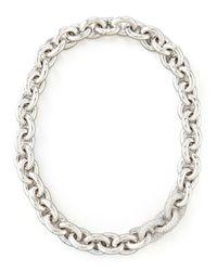 Eddie Borgo - Metallic Pavelink Cable Chain Necklace - Lyst