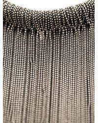 Brunello Cucinelli | Metallic 'Monili' Fringed Necklace | Lyst