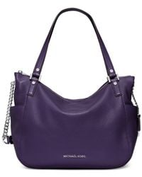 Michael Kors | Purple Michael Chandler Large Shoulder Tote | Lyst