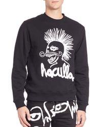 Haculla - Black Embroidered Doodle Sweatshirt for Men - Lyst