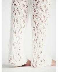 Free People - Natural Lemons Womens Sweater Web Over The Knee Legwarmer - Lyst