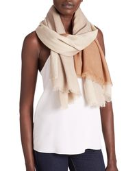 Tory Burch - Brown Mosaic-print Wool Scarf - Lyst