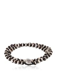Luis Morais | Black Double Wrap Mantra Beaded Bracelet | Lyst