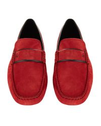 Tod's | Red Ferrari Penny Driving Shoe for Men | Lyst