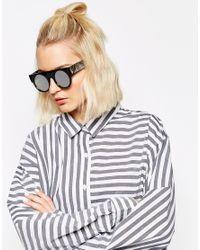 Cheap Monday - Gray Flat Brow Round Sunglasses - Lyst