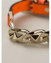 Valentino | Orange Buckle Strap Bracelet for Men | Lyst