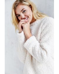 Silence + Noise - White Cozy Sherpa Top - Lyst