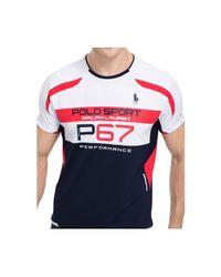 Polo Ralph Lauren | Blue Polo Sport Micro-dot T-shirt for Men | Lyst