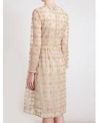 Simone Rocha - Metallic Embroidered Crepe Dress - Lyst