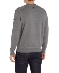 Duck and Cover - Gray Turin Zip Through Textured Jumper for Men - Lyst