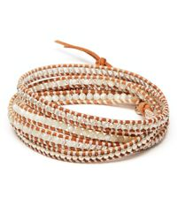 Chan Luu | White Mixed Five Wrap Bracelet | Lyst