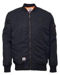 Fly 53 | Black Bovva Full Zip Bomber Jacket for Men | Lyst