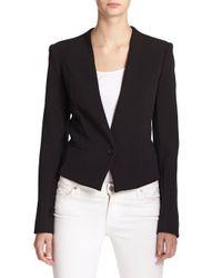 Rachel Roy | Black Button-front Blazer | Lyst