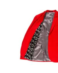 Paul Smith - Men's Slim-fit Red Wool-hopsack Blazer for Men - Lyst