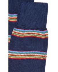 Paul Smith | Blue Multi Block Stripe Socks for Men | Lyst