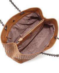 Bottega Veneta - Brown Shoulder Bag Shopping Woven - Lyst