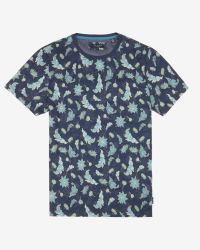 Ted Baker | Blue Bishy Leaf Print T-shirt for Men | Lyst