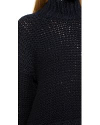 Free People - Blue Long Summer Pullover Sweater - Deep Navy - Lyst