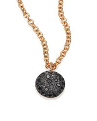 Pomellato | Nudo Black Diamond & 18k Rose Gold Pendant Necklace | Lyst