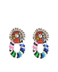 Shourouk | Multicolor Rainbow Sequins Earrings | Lyst