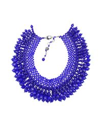 Helene Zubeldia | Blue Dolce Vita Glass Collar Necklace | Lyst