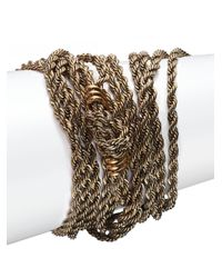 Lanvin | Metallic Knot Multi-row Chain Bracelet | Lyst