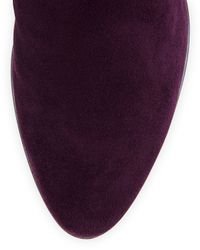 Aquatalia - Purple Rhumba Stretch Suede Knee Boot - Lyst
