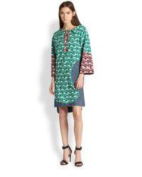 Tsumori Chisato - Shell Mixed Print Paneled Cotton Dress - Lyst
