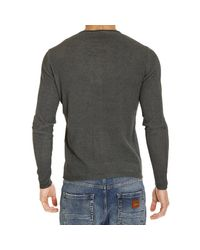 Brooksfield - Gray Sweater Knit Crew-neck Piquet Cotton for Men - Lyst