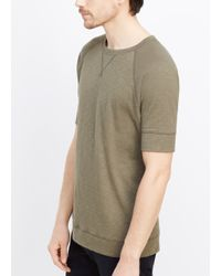 Vince - Brown Refined Slub Cotton Raglan Sweatshirt Tee for Men - Lyst