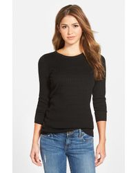 NIC+ZOE - Black 'allegro' Crewneck Sweater - Lyst