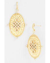 Freida Rothman | Metallic 'gramercy' Love Knot Oval Shield Earrings | Lyst