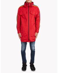 DSquared² | Red Rainbow Short Parka for Men | Lyst