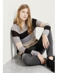 Violeta by Mango | Blue Mohair-blend Sweater | Lyst