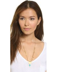 Madewell - Triangle Dart Layering Necklace - Beachside Blue - Lyst