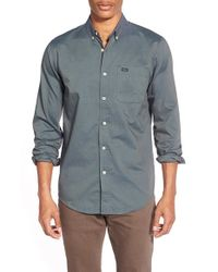 RVCA | Gray 'that'll Do' Slim Fit Oxford Shirt for Men | Lyst