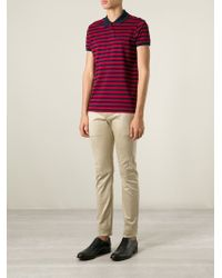 Saint Laurent - Natural Classic Chinos for Men - Lyst