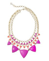 Kendra Scott | Emily Statement Necklace, Pink Hibiscus | Lyst