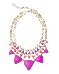 Kendra Scott | Emily Statement Necklace, Pink Hibiscus | Lyst