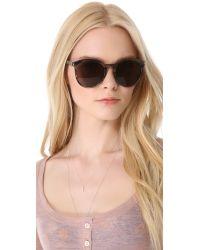 Saint Laurent | Classic Preppy Round Sunglasses - Black/brown Gradient | Lyst