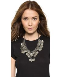 Raga | Metallic Coin Necklace - Silver | Lyst