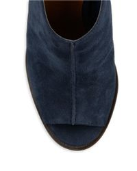 424 Fifth - Blue Deanna Slingback Open Toe Mules - Lyst