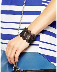 Oasis | Black Lace Stretch Bracelet | Lyst