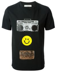 Golden Goose Deluxe Brand - Black Smiley Face Print T-Shirt for Men - Lyst